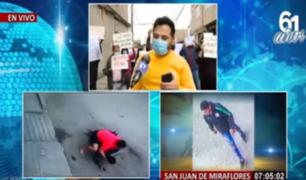 SJM: vecinos de bodeguero asesinado cierran calles por temor a delincuentes