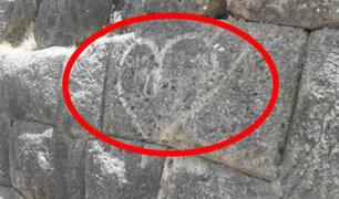 Cusco: realizan pintas en muro de parque arqueológico Sacsayhuamán