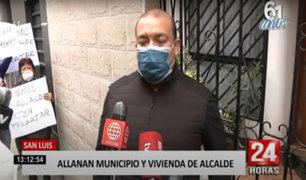 San Luis: por presuntas compras irregulares allanan municipio y vivienda de alcalde