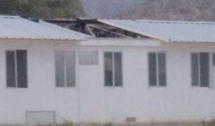 Lambayeque: fuertes vientos arrasan con techos de aulas prefabricadas de un colegio
