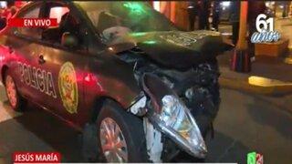 Jesús María: Dos policías heridos en accidente de tránsito
