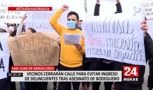 SJM: vecinos exigen justicia tras brutal asesinato de bodeguero