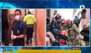 Barrios Altos: adultos mayores quedaron atrapados tras derrumbe en quinta