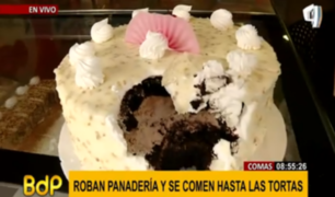 Inaudito: no solo robaron panadería, se comieron y arruinaron tortas