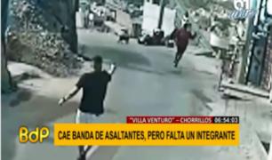 Chorrillos: capturan a integrantes de banda que intentó asaltar a motociclista
