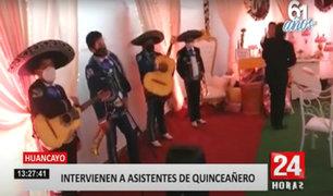 Huancayo: invitados de quinceañero usan pañal y trapos como mascarillas