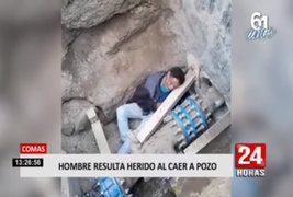 Comas: hombre resultó herido tras caer a pozo