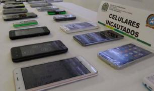 Incautan más de 100 celulares y laptops de dudosa procedencia