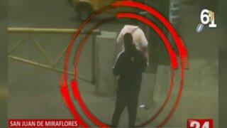 SJM: Ladrón amenazó con cuchillo de cocina a mujer para robarle sus pertenencias