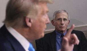 "Donald Trump llama ""idiota"" al epidemiólogo Anthony Fauci"