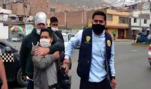 SJL: sujeto detenido por tocamientos indebidos felicita a PNP por su labor