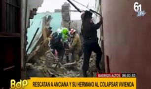 Barrios Altos: viviendas en riesgo de colapso ponen en peligro a vecinos