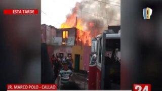 Callao: Incendio consumió 6 viviendas en el jirón Marco Polo