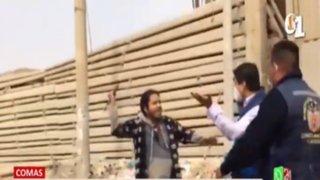 Comas: Fiscalizadores fueron atacados durante intervención a fábricas clandestinas