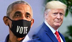 Barack Obama reaparece en público y lanza ataque contra Trump