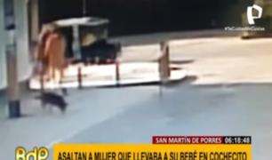 SMP: delincuentes armados asaltaron a madre que paseaba a su bebé en coche
