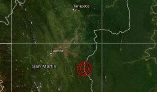 Sismo de magnitud 4.0 se registró esta noche en San Martín