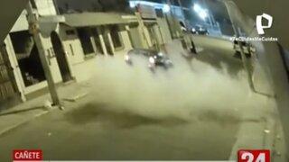 Cañete: sujetos arrojan explosivos en la fachada de empresa de transporte