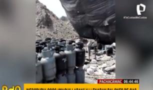 Pachacámac: planta clandestina envasaba gas 'bamba' sin medidas de seguridad