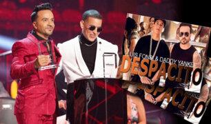 """""""Despacito"""" de Luis Fonsi y Daddy Yankee fue galardonada como la canción de la década"""