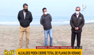 Alcaldes insisten en que sería mejor cierre total de playas para evitar propagación del COVID-19
