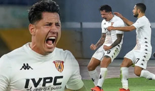 Lapadula generó pase gol en derrota del Benevento ante Nápoli