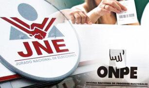 JNE aprueba padrón de electores de 10 agrupaciones políticas