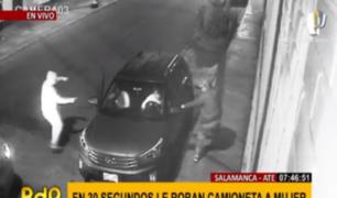 Policía busca a delincuentes que asaltaron conductora y robaron camioneta en Ate