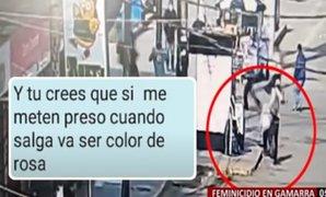 Feminicidio en Gamarra: los mensajes que asesino envió a joven venezolana antes de matarla