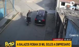 Carabayllo: ladrones roban 20 mil soles a empresario cuando iba a pagar a sus trabajadores