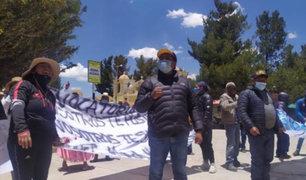Puno: pobladores protestan por construcción de planta de tratamiento de residuos