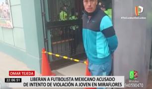 Liberan a futbolista mexicano Omar Tejeda, acusado de intento de violación sexual