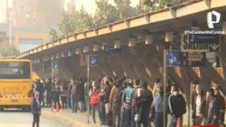 Metropolitano: Usuarios afectados por reducción de flota de buses alimentadores