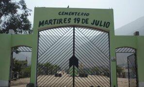 Cementerios de Comas permanecerán cerrados en tradicional Día de los Muertos