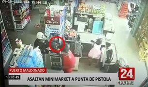 Puerto Maldonado: Policía frustra asalto en minimarket
