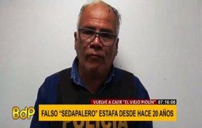 Falso trabajador de Sedapal se jacta de realizar estafas desde hace 20 años