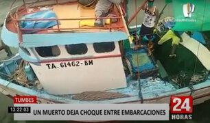 Tumbes: accidente entre embarcaciones en altamar dejan un muerto y dos heridos