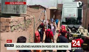 Ate: dos personas cayeron a pozo de 35 metros de profundidad