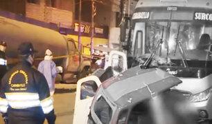 """Dos muertos dejó """"carrera"""" de buses en Carabayllo"""