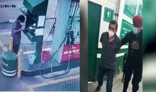 Detienen 'in fraganti' a ladrón que robaba ganancias de un grifo en el Callao