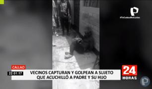 Callao: vendedor de golosinas acuchilla a padre y a su hijo en tienda