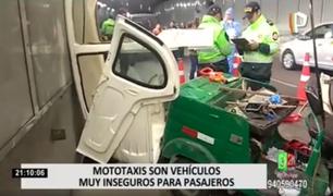¡Imprudencia al volante! Mototaxis se convierten en vehículos inseguros para trasladar a pasajero