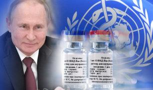 """Vacuna Rusa: OMS verificará la calidad de """"Sputnik V"""" contra la COVID-19"""