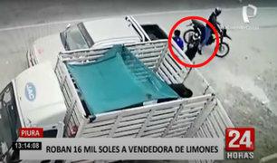 Piura: delincuentes encañonan a comerciante y le roban 16 mil soles