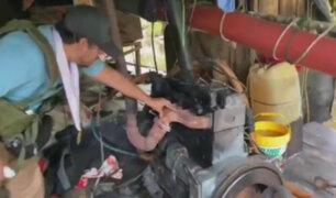 Destruyen dragas que eran usadas por mineros ilegales en cuencas del río Nanay
