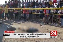 Niña de dos años es hallada muerta dentro de buzón en Chiclayo
