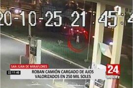 SJM: delincuentes roban camión cargado de ajos valorizado en 250 mil soles