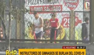 El Agustino: instructores de gimnasios desafían normas contra COVID-19