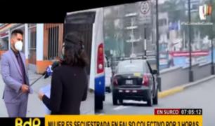Surco: joven fue secuestrada tres horas por falso colectivo
