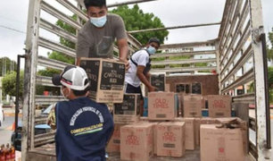 Municipio de Tumbes incautó más de centenar de cajas de ron y vodka
